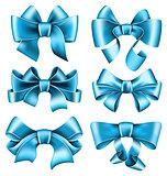 Six blue bows