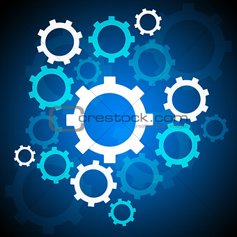 Abstract background with mechanical gears