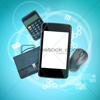 Smartphone with calculator