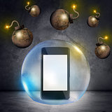 Smartphone in bubble