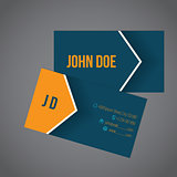 Modern business card with arrow design