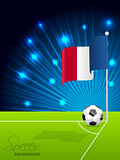 Soccer ball and french flag