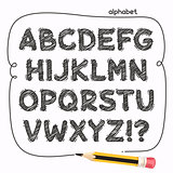 Cartoon Doodle Alphabet