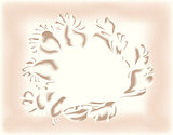 Abstract floral bouquet on a light pastel background. EPS10 vector illustration