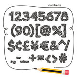 Cartoon Doodle Numbers