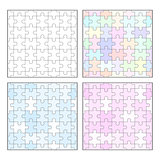 Jigsaw puzzle blank seamless templates