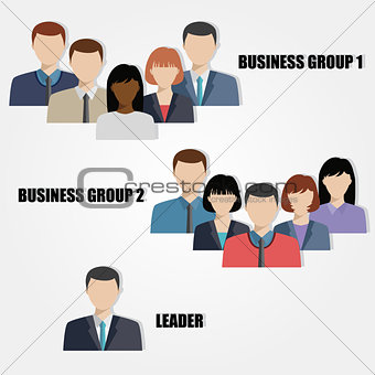 business people group flat vector illustration