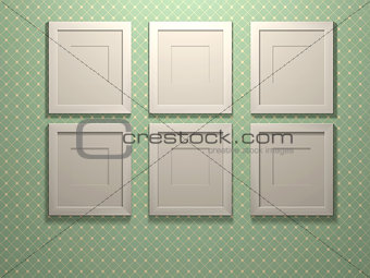 Six picture frames