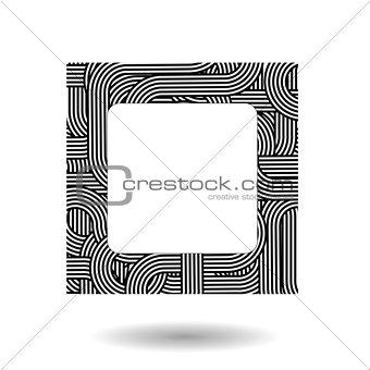Single Striped Frame