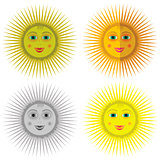 Cartoon Sun Icons