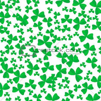 Green Cartoon Clover Leaves