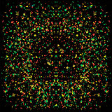 Particles Background. Colorful Confetti
