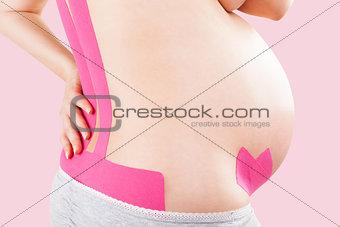 Kinesio tape on pregnant.