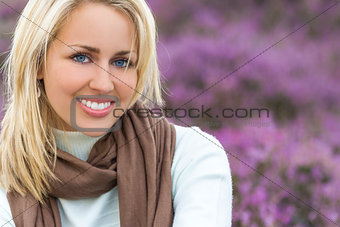 Beautiful Blond Woman Girl In Heather