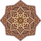 Mandala ethnic indian illustration design