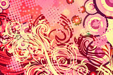 Decorative Floral Grunge Background