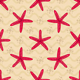 Seamless patterns with starfishs