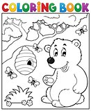 Coloring book bear theme 2