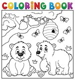 Coloring book bear theme 4