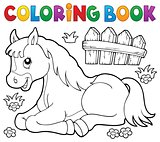 Coloring book horse topic 1