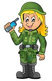 Female soldier theme image 1