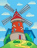 Hill with windmill theme 1