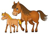 Horse with foal theme image 1