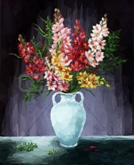 Freesia Flowers Low Poly