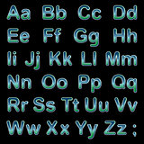Alphabet letters on a black background
