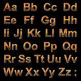 Alphabet pseudo 3d letters