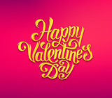 Happy Valentines Day text typography greetings