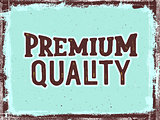 Premium quality hand lettering. Vintage poster