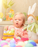 Little girl celebrate Easter