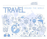 Travel Around the World. Vector Illustration Infographics