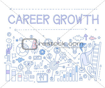 Career Growth Infographics. Vector Illustration