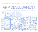 App Development Infographics. Vector Illustration