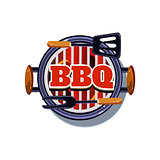 BBQ Sticker. Vector Illustration