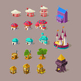 Fairy House and Castle Vector Set