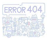 Error Infographics. Vector Illustration