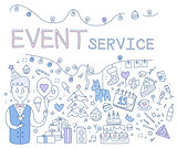 Event Service. Vector Illustration