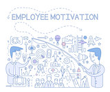 Employee Motivation Concept. Vector Infographic