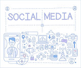 Social Media Infographics. Vector Illustration