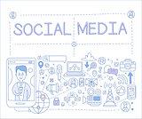 Social Media Infographics. Vector Illustration