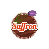 Saffron Spice. Vector Illustration.
