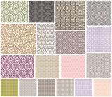 Geometric patterns seamless set