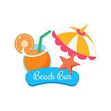 Beach Bar. Summer Vacation. Vector Illustration