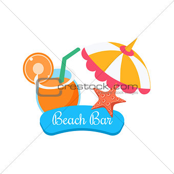 Beach Bar. Summer Vacation. Vector Illustration