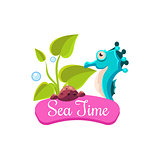 Sea Time. Summer Vacation. Vector Illustration