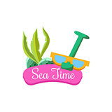 Sea Time in Summer. Vector Illustration