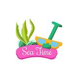 Sea Time in Summer. Vector Illustration